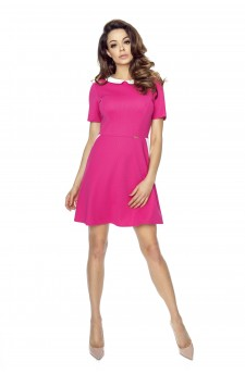 43-01 Carla – dress with a collar (pink)