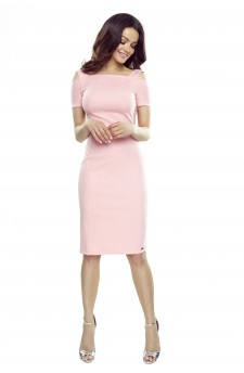 85-11 Roxi wygodna sukienka dzienna (pink)
