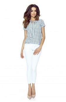 64-01 ILONA - comfortable and elegant blouse (diamond blue)