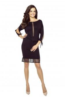 Sukienka mini z transparentnymi wstawkami