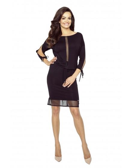 82-02 VARIA uniwersalna i wygodna sukienka (czarny)