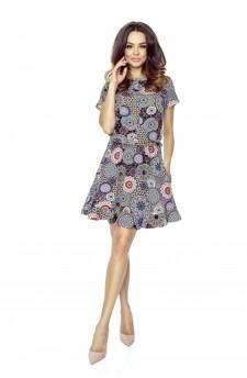 63-02 VIKI – bardzo wygodna sukienka rozkloszowana (mozaika)