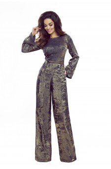 Elegant jumpsuit with a tie at the waist