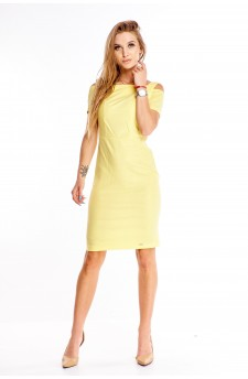 Ołówkowa sukienka z wycięciami na ramionach