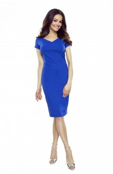 107-12 Alice dress to office (blue)