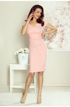 107-13 Alice dress to office (salmon)