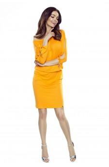 84-14 Venus wygodna sukienka dzienna (pomarańczowa)