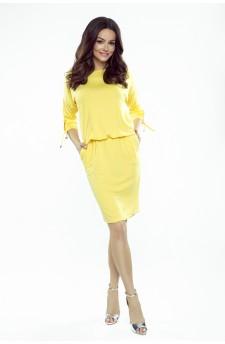84-13 Venus wygodna sukienka dzienna (żółta)