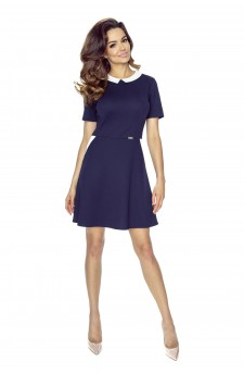 43-02 CARLA – dress with a collar (navy)