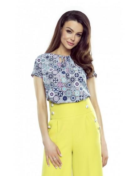 64-12 ILONA - comfortable and elegant blouse (multicolor)
