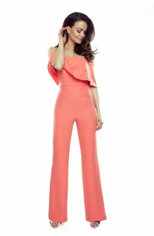 112-08 IVO jumpsuit with bare shoulders (orange)