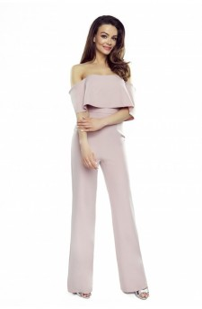 Jumpsuit with bare shoulders