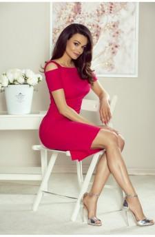 85-10 Roxi wygodna sukienka dzienna (czerwona)