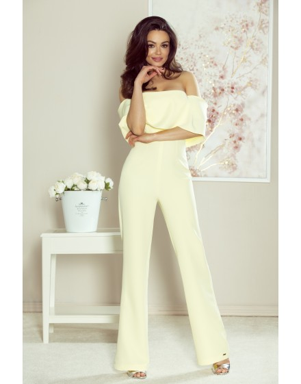 112-06 IVO jumpsuit with bare shoulders (yellow)