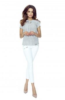 64-02 ILONA - wygodna i elegancka bluzka (romby róż)