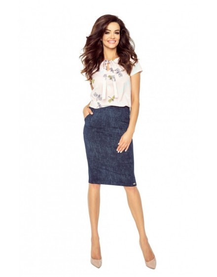 64-05 ILONA - comfortable and elegant blouse (DRAGONFLIES)