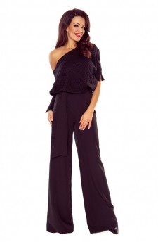 Jumpsuit with a bat-like top