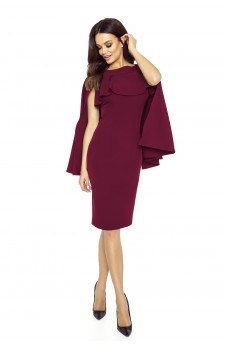 94-03 ESME dress with cape (maroon)