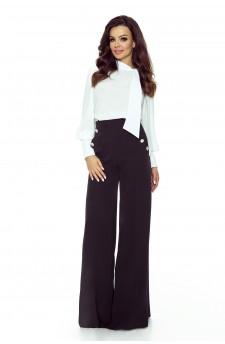 91-05 Elegant trousers with high status (black)