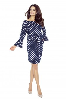 80-06 SAVA universal and comfy dress (navy - white dots)