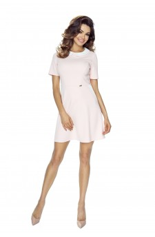 43-03 Carla – dress with a collar (pastel pink)