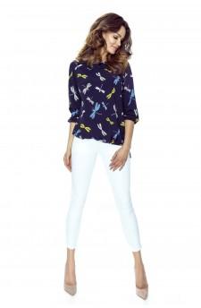 58-01 ELENA blouse (navy)