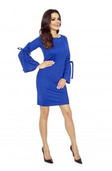 70-06 OLGA dress with tied sleeves blue