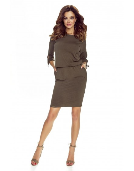 84-10 Venus comfy everyday dress (KHAKI)