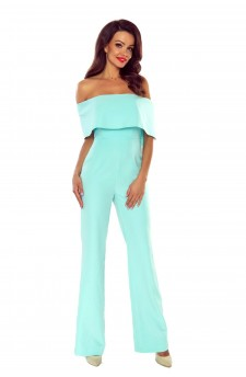 Jumpsuit with a Spanish neckline and wide legs