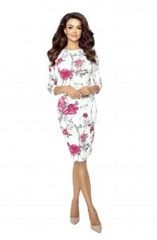 27-07 Eleonora – sukienka z dekoltem eksponującym plecy (Gałązka Bordo)