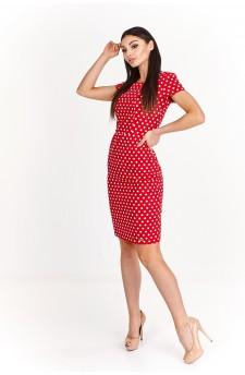 Ołówkowa sukienka do kolan z odkrytymi plecami