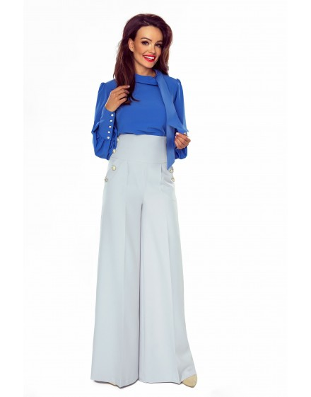 91-08 Elegant trousers with high status (grey)