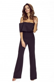 112-05 IVO jumpsuit with bare shoulders (black)