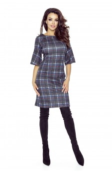 71-04 LISA classic and comfy dress(DARK GRILLE)