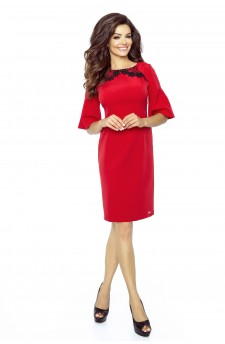 71-01 LISA classic and comfy dress(RED)