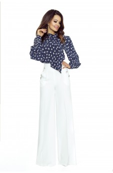 91-02 Elegant trousers with high status (ecru)