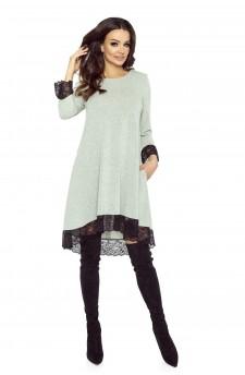 101-03 Reina - sukienka trapezowa (szary)