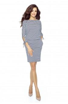 84-04 Venus comfy everyday dress (STRIPES NAVY 0,5X0,5)