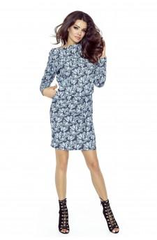 79-06 VIVA uniwersalna i wygodna sukienka (jeans motyle)